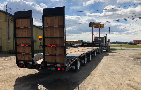 2020 BWS Drop deck 4 axles with beavertail/ramps